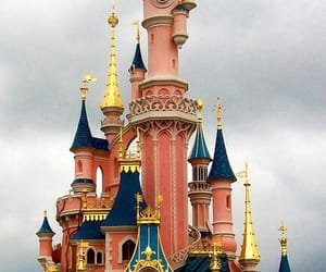 disney castle, fairytale, and gold image