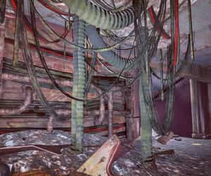 electrical, fallout, and ruin image