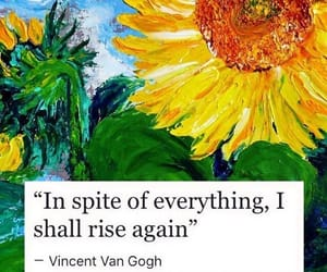 art, sunflower, and vincent van gogh image