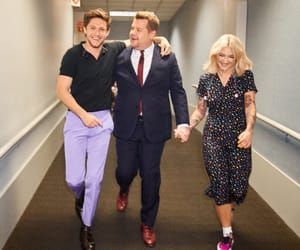 james corden, niall horan, and julia michaels image