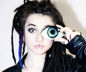 anna, dreadlocks, and blue eyes image