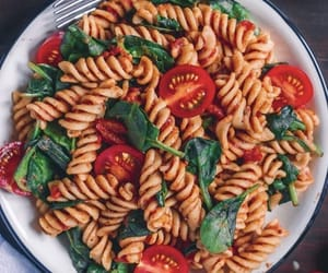 food, pasta, and tomato image