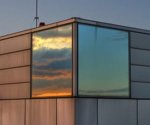 sky, sunset, and mirror image