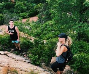 boy, hiking, and rocks image