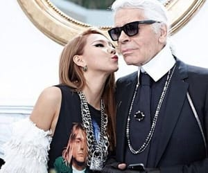 2ne1, chanel, and karl lagerfeld image