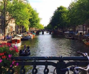 amsterdam, canal, and europe image