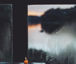 candle, cottage, and dawn image