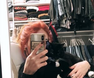 black, clothes, and cat image