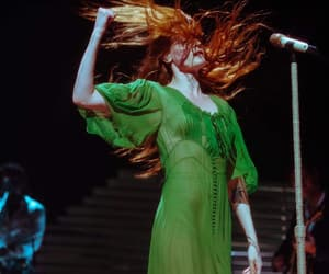beauty, florence and the machine, and green image