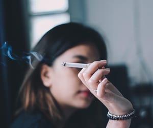 bad, cigarette, and smoke image