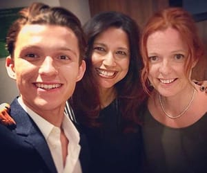 actors, spider-man, and tom holland image