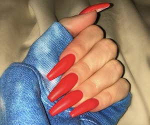 nails, inspiration, and red image