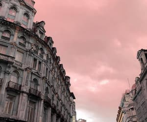 fashion, paris, and pink sky image