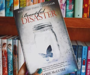 beautiful disaster, book, and bookshelf image