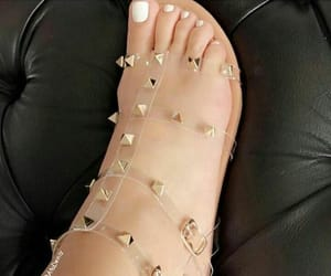 gladiator sandals, nails, and sandals image