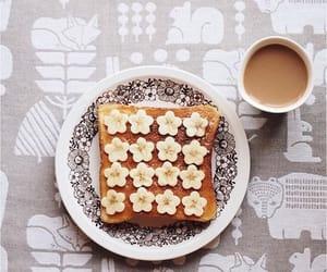 banana, breakfast, and toast image