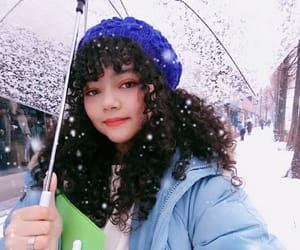 curls, cute girl, and ❄ image
