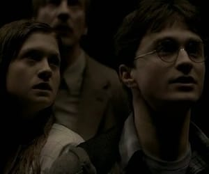 bonnie wright, daniel radcliffe, and ginny weasley image