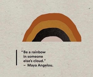 quotes, rainbow, and cloud image