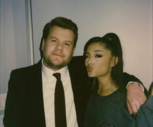 james corden, ariana grande, and the late late show image