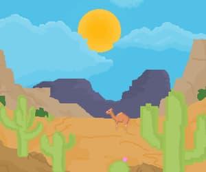 art, desert, and sun image