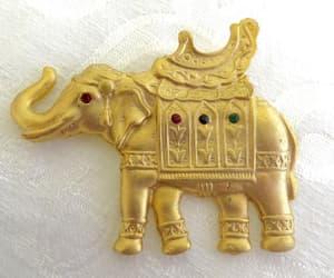 etsy, vintagevoguetreasure, and circus elephant image