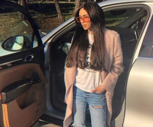 beauty, jeans, and long hair image