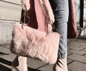 bag, fur bag, and fashion image