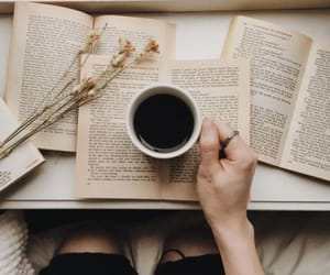 aesthetic, books, and cup image