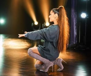boots, outfit, and ponytail image