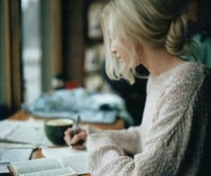 girl, book, and study image