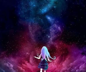 galaxy, anime, and wallpaper image