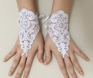etsy, 3d flowers, and wedding gloves image