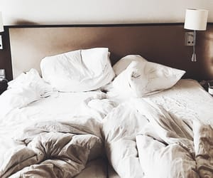 bed, bedroom, and luxe image