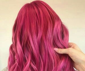hair style, hairstyle, and pink image