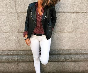 black jacket, girl, and outfit image