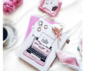 agenda, pink, and rose image
