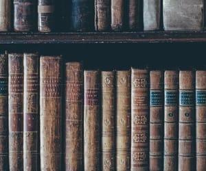 antique, book, and bookshelf image