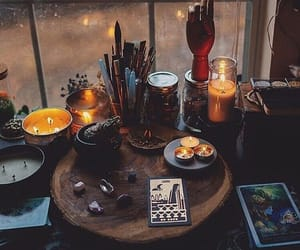 witch, altar, and candles image