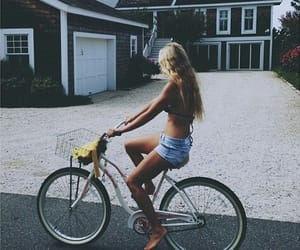 bicicleta, fitness, and girl image