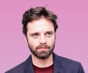 handsome, pink, and sebastian stan image
