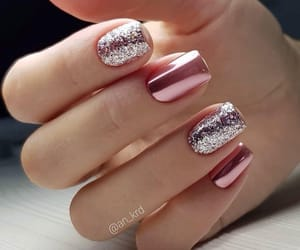 girly, glitter, and grey image