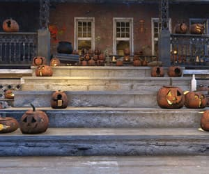 candle light, porch, and stairs image
