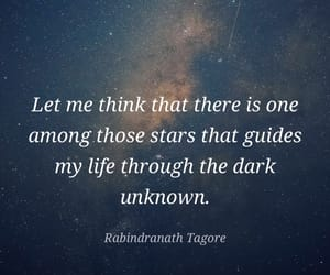 quote, star, and rabindranath tagore image