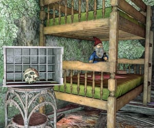 abandoned, bunkbed, and gnome image