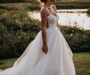bride, lake nature, and stunning image