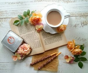 book, porcelain, and roses image