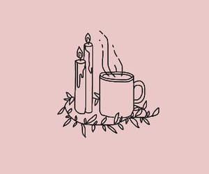 aesthetic, cozy, and outline image