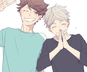 haikyuu, sugawara, and oikawa image