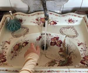 aesthetic, flowers, and bathroom image